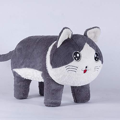 WENYC creatieve kittenkruk voor kinderen, pluizige houten kruk, kinderstoel, kleuterschoolbank D