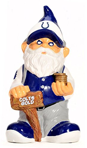 Forever Collectibles Indianapolis Colts Garden GNOME Coin Bank