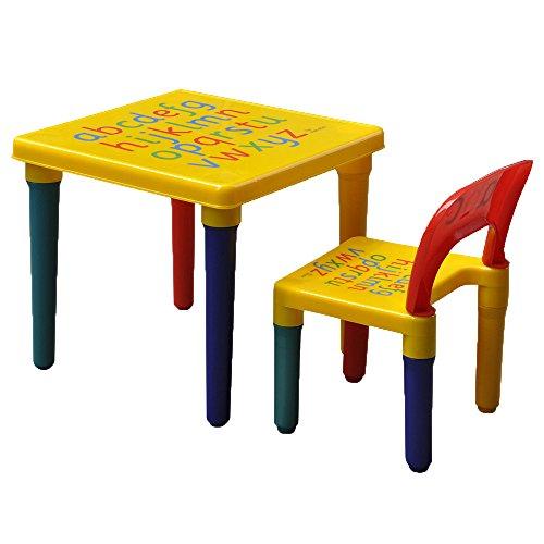 SavingPlus ABC Alphabet Kids Plastic Table and One Chair Set Gift UK
