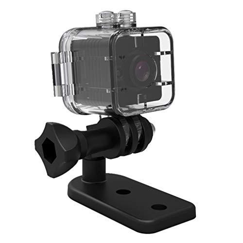 Mini cámara remota WiFi SQ12 Lente Gran Angular de 155 Grados de definición Ultra Alta (Negro)