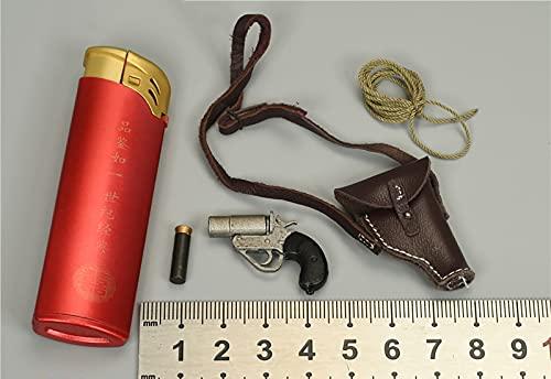 ZHWH Accesorios de Figuras de acción a Escala 1/6, Pistola de bengalas Teniente Coronel SAS Modelo de plástico en Miniatura para PHICEN, Tbleague, HT Toys No lanzar,A