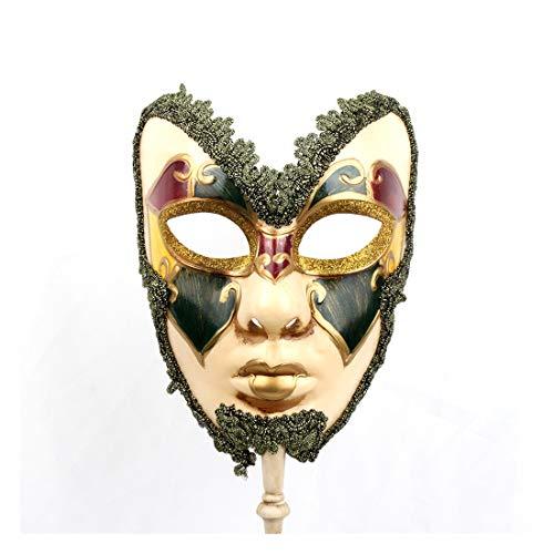YU FENG Máscara Hecha a Mano de Estilo Veneciano,Máscara Completa de Mano