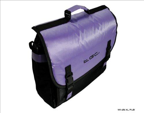 Paarse en zwarte Messenger stijl TGC tas voor Fujitsu Lifebook SH76/E laptop