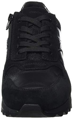 Geox D Tabelya A, Zapatillas Mujer, Negro, 39 EU