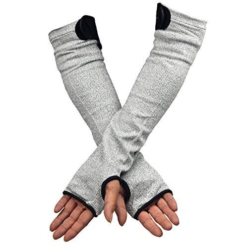 Coupe-Proof résistant à l'usure manches anti-verre rayures Scratch manches résistant à la déchirure couteau-preuve bras gardes,M