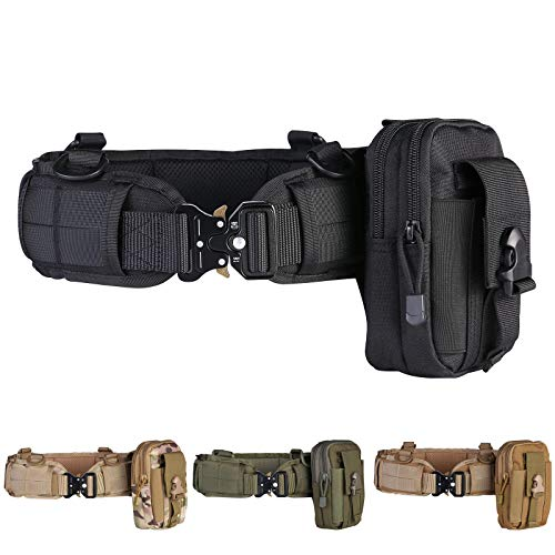 Tactical Battle Belt with Outer Molle Belt,Military Rigger Man with Cobra Buckle Battle Belt with Mesh and Lining Thickening EVA for Shooting War Game Paintball Hunting