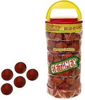 Betamex Tarugo Tamarindo Enchilado Mexican Hot Tamarind Candy Balls 100 Pcs