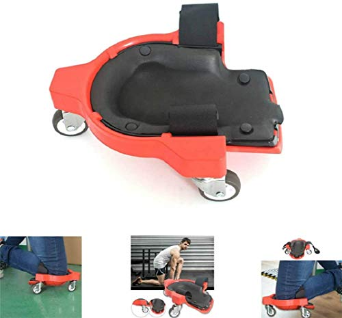 Knieschützer Rollende Räder, Praktisches Werkzeug zum Verlegen von Kniefliesen, Knieschoner Protector Rollende Knieschützer mit Rädern (1 Paar, rot)