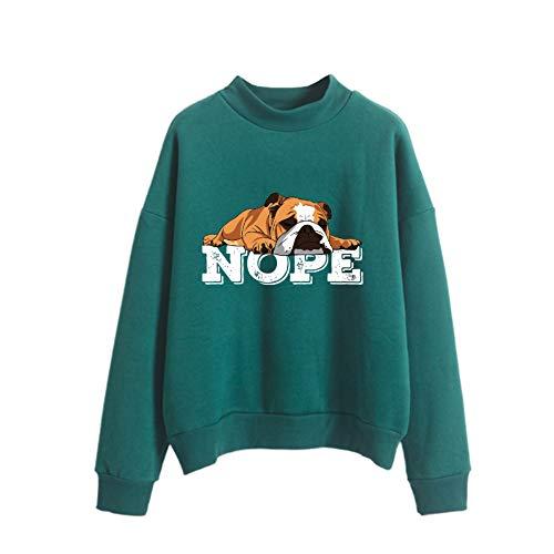 Pullover Nope Faule englische Bulldoggen-Hunde Brief Printing Outwear bequemen Sweatshirt New-Art-weiche Mäntel Solid Color Hoodies Western Style Pullover...