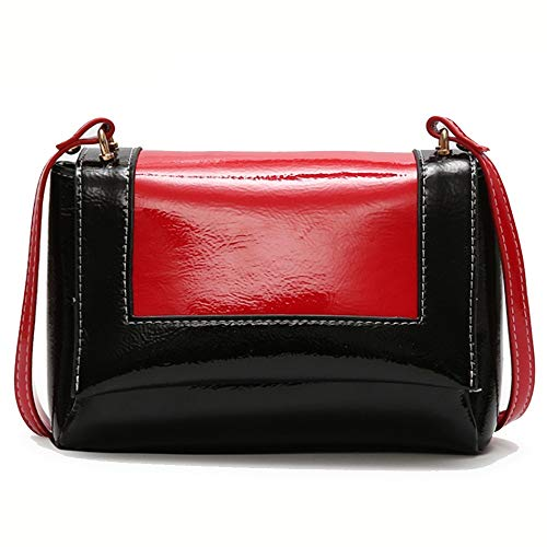 A-hyt Comfortable and convenient Summer new wave space bag PU leather childlike shoulder bag Easy hike (Color : Red, Size : 20 * 11 * 14cm)