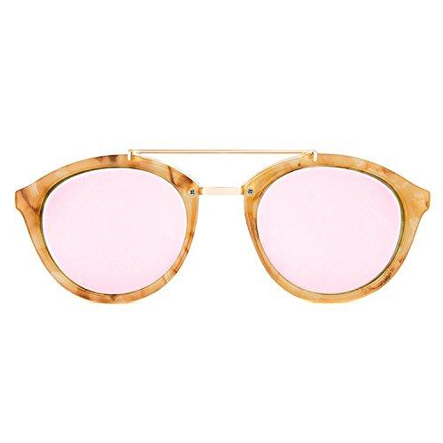 Maltessa Volutto Occhiali da Sole, Beige (Carey/Rosa), 52 Unisex-Adulto