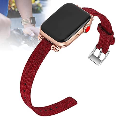 HHORB Correa tejida compatible con iWatch Series SE 6 5 4 3 2 1, correa de repuesto de tela de nailon transpirable, correa de repuesto para Apple Watch de 38 mm, 42 mm, 40 mm, 44 mm, 1,42/44 mm