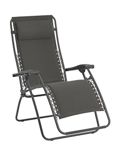 Lafuma Relax-Liegestuhl, Klappbar und verstellbar, Mit Schnürsystem, RSX, Polyester/Baumwolle, ardoise (grau), LFM2033-8549