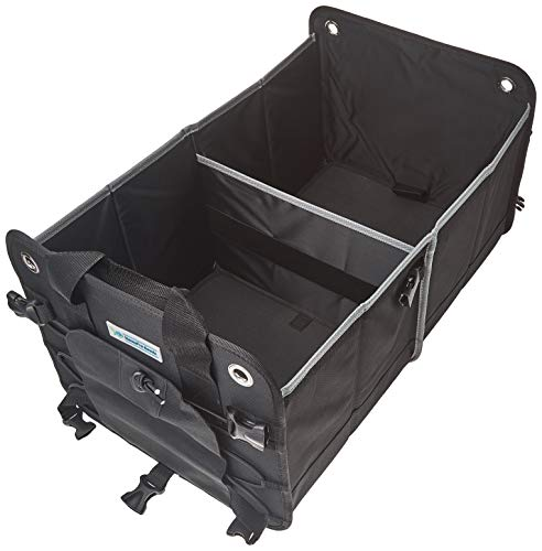 Heavy Duty Car Trunk Organizer By HomePro Goods, Sturdy Storage for Travel, Groceries and Gear, Black
