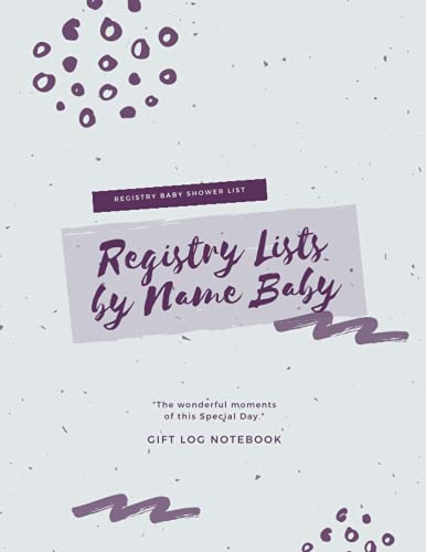 Registry Lists by Name Baby Registry Baby Shower List: Registry And Lists, Gift Registry Shower by Name, Exchange A Gift I Received, Registry Gifts ... Registry List by Name, Registry Shower Name