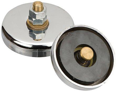 Silverline 427714 - Morsetto di messa a terra magnetico per saldatori elettrici, ø 8,7 cm