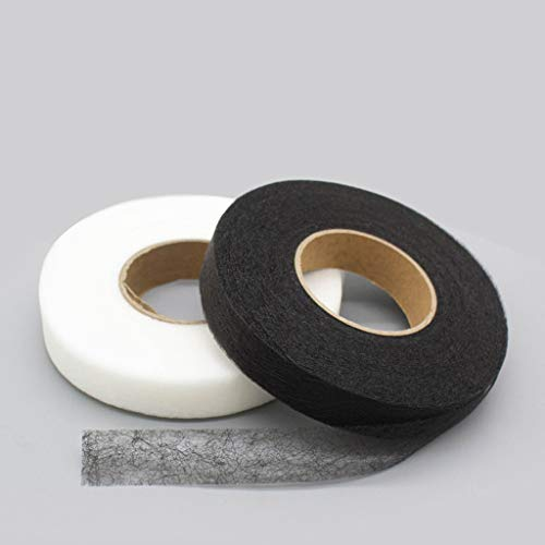 Hem Tape No Sew, Fabric Fusing Tape Iron On, Adhesive Hem Tape Iron-On, Double Sided Tape for Fabric, Fabric Repair Tape for Clothes, Fabric Mending Tape, Hemming Tape for Pants/Dress/Blouse (White)