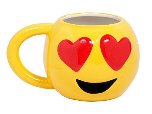Emoji Tasse Smiley Becher Emoticon Kaffeebecher Emoji-Tasse Verliebt, Variante wählen:78/8247 Verliebt