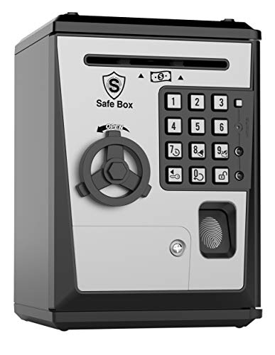 Like Toy Piggy Bank Safe Box Fingerprint ATM Bank ATM Machine Money Coin Savings Bank for Kids