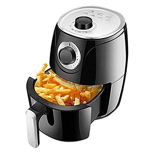 Freidora de Aire Cocina 2.6L Temp / Control de tiempo instantáneo (para dedo húmedo) y control de la perilla, 1000W, 7 ajustes preestablecidos para cocinar para freír / asar / hornear / mantener calie