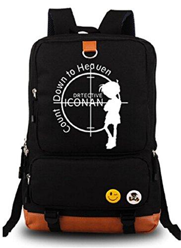 Siawasey detective Conan anime Cosplay luminoso zaino Bookbag di scuola borsa