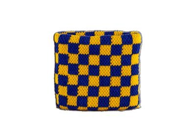 Sudor banda de cuadros azul amarillo + Gratis Pegatinas, Flaggenfritze–Bandera