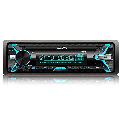Audiocore AC9710 B APT-X autoradio MP3/WMA/USB/RDS/SD ISO Panel Bluetooth Multicolor Technologie APT-X fournit stéréo haute qualité Bluetooth, offrant une qualité sonore câblé connexion sans fil