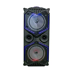 Detel High Power Audio System with Wireless Mic, Bluetooth Connectivity, Light Shows and Mic/Guitar inputs (Jazzy),SG Mobility Pvt Ltd,Detel Tashan