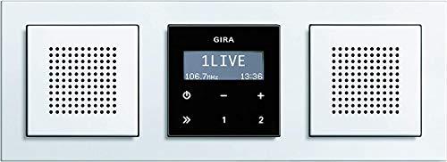 Gira Radio Stereo RDS Unterputz mit Lautsprechenr und E2 Rahmen