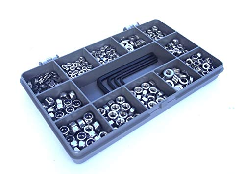 Monkeyjams Shed 544 Piece Assorted Nut, Washer and Allen Key Set. M3,M4 & M5. A2-70 Stainless Steel.