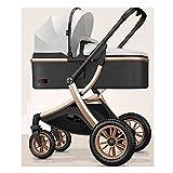 sillas de paseo El cochecito de alto paisaje, puede sentarse y acostar con el marco de aleación de aluminio de absorción de choque de dos vías es liviano y plegable. Cochecito de bebé ( Color : N )