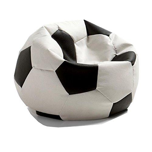 Hagoelvago Puff Pelota Balón de Fútbol Original Polipiel Colores Oficiales 60 cm Diámetro para nińos y Adultos Celebra los goles de tu Equipo Relleno Incluido