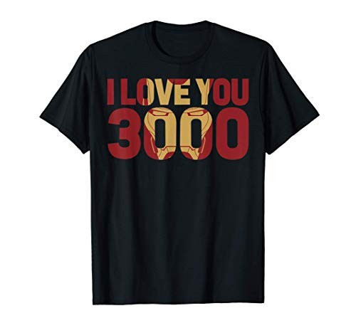 Marvel Avengers Endgame Iron Man I Love You 3000 Text Fill Maglietta
