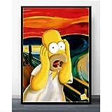 MONBAI Wandkunst Die Simpsons Schrei Anime Cartoon Comics