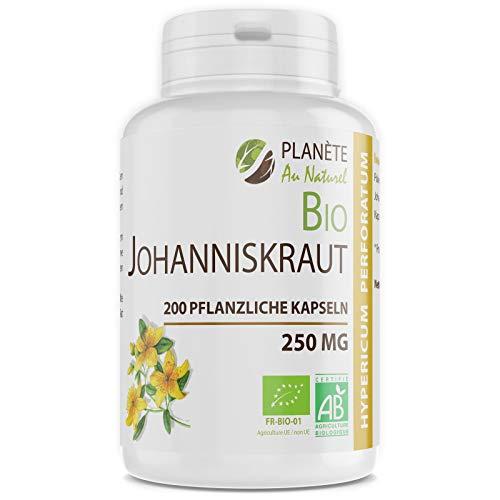 Bio Johanniskraut - 250 mg - 200 pflanzliche Kapseln