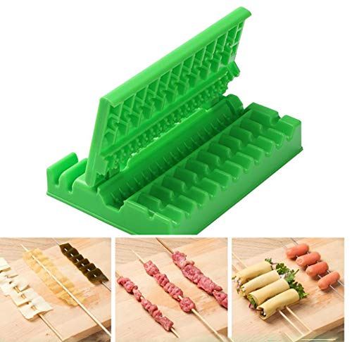 Great Features Of Multifunctional Barbecue Skewers Artifact Wear, Food Barbecue Skewers Skewers of B...