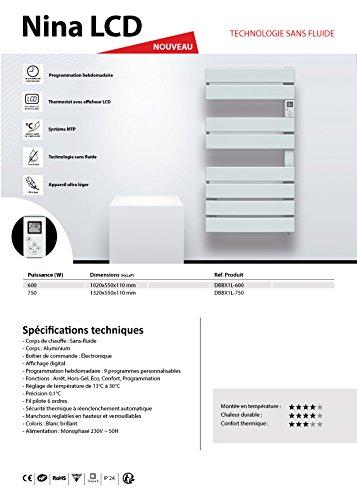 Cayenne 050930 Sèche-Serviette Nina - 600 W - ouverture latérale