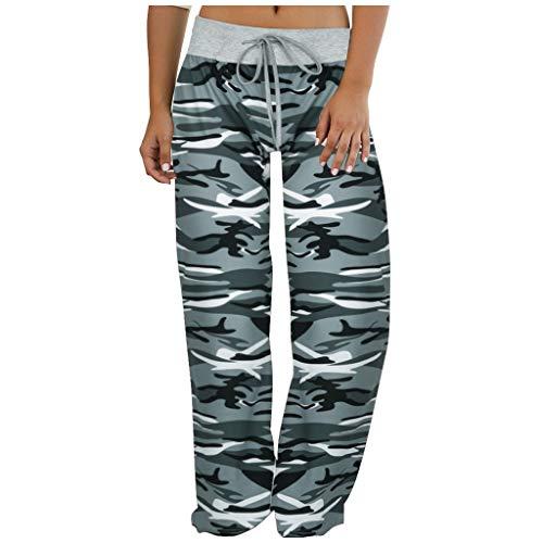 Lenfesh przewiewne spodnie damskie spodnie sportowe do fitnessu, długie, rozciągliwy wygląd, spodnie do biegania, spodnie treningowe, luźne, szerokie nogawki.
