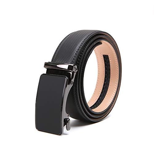 "CHAOHONGMen's Black Leather Ratchet Dress belts for men long belts for plus size men long belt big and tall work belts, Black06, Waist Size:42""--52"""