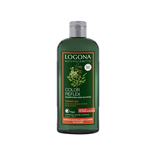 Logona - 1003shahen - Soin et Beauté du Cheveu - Shampooing Reflets au Henné - 250 ml - BIO