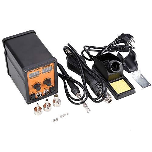 NRG968D Estación de soldadura y desoldadura con soplador de aire caliente, dispone de pantalla doble led para ajustar la temperatura, hasta 500W de potencia