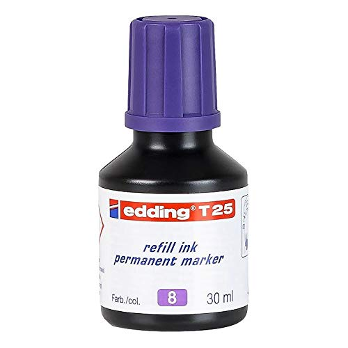 edding T25-008 - Frasco de tinta permanente de 30ml, color violeta