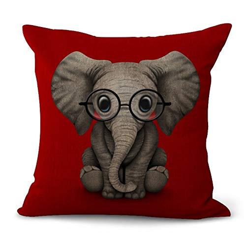 HenShiXin Bequem Cotton Sofa Kissenbezug Cartoon-Hund Elefant Auto Sofa Kissenbezüge Frei Weicher Kern ohne Anstrengung (Color : 3, Size : 45 * 45cm)