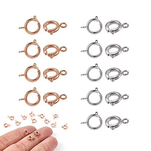 Jewelry Fastener Hook Lobster Claw Clasps Jewelry Manufacture Clasp Jewelry Making Clasps Lobster Clasp Jewellery Making Findings Fasteners for Earring Bracelet Necklace Pendants Jewelry Making 40 Pcs