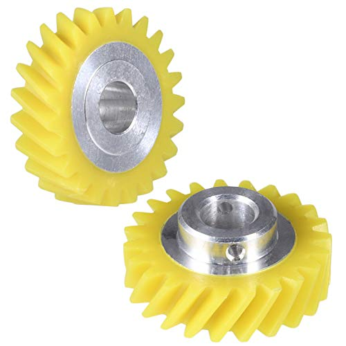 W10112253 Mixer Worm Gear Replacement Part by Moteder, for Whirlpool Kitchenaid Replaces 4162897 AP4295669 4161531 4169830 (2 Pcs)