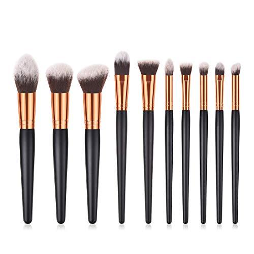 Chenzinan 10PCS Maquillage brosse de nylon Trousse de toilette brosse cosmétiques Eye Brosse brosse de maquillage professionnel Kit (Color : 10-Piece)