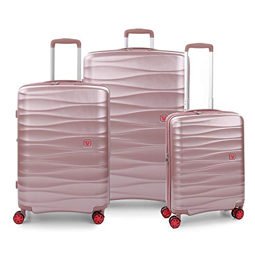 RONCATO Stellar Set 3 maletas rígidas expandibles 4 ruedas Tsa Rosa