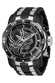 Invicta Marvel Men s 48mm Pro Diver Scuba Black Panther Black Silver Two Tone Limited Edition Quartz Stainless Steel Bracelet Watch