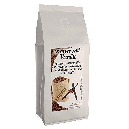 Aromakaffee - Aromatisierter Kaffee - Vanille 500g gemahlen - Spitzenkaffee - Schonend Und Frisch In Eigener Rösterei Geröstet