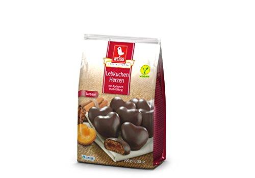 Weiss Gefüllte Lebkuchen-Herzen Zartbitter, 27er Pack (27 x 300 g)